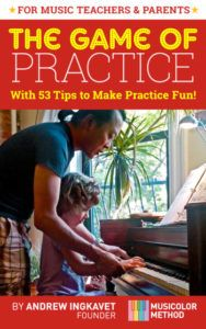 The game of practice is a book about encouraging and motivating children to practice their music instrument