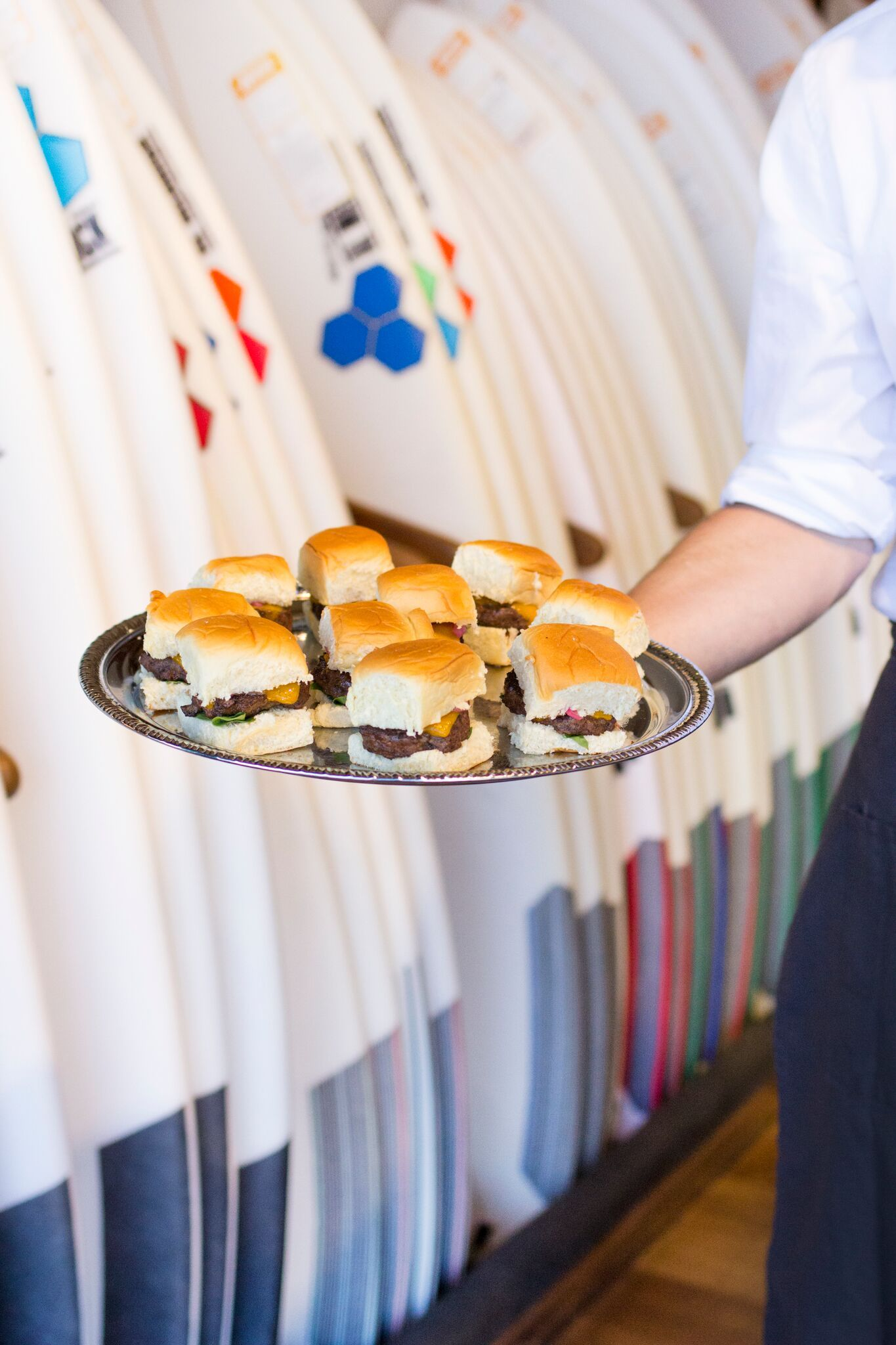 Our signature Huntington Sliders at the Burton & Channel Islands Party.