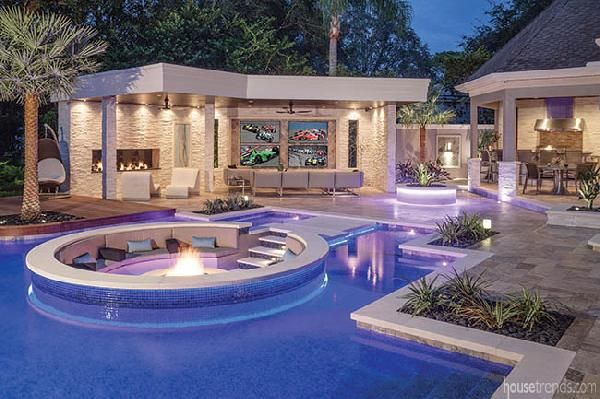 Backyard Ideas With A Taste Of The Tropics Luxury Pools Tropical Pool Swimming Pool Designs
