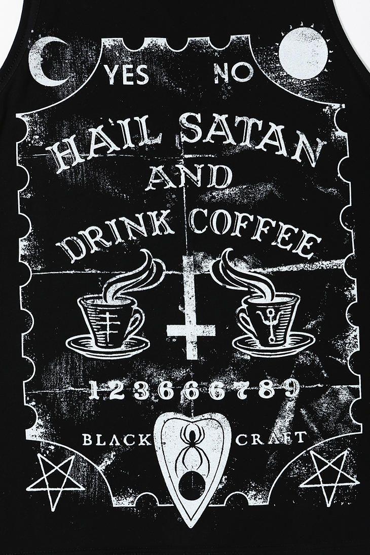 Black Craft Satan Coffee Muscle Tee Satan Satanic Art Occult Art