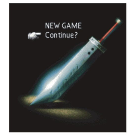 Final fantasy VII New game/Continue? by Geekstuff | Final fantasy ...