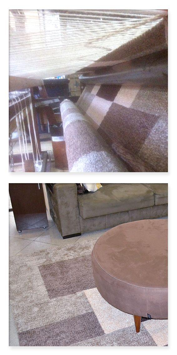 Do tear para a sua casa. Produção de tapete quadriculado. Projeto realizado para a sala de tv da Sheila. Trabalho personalizado, cliente feliz, já encomendou novo projeto ;D