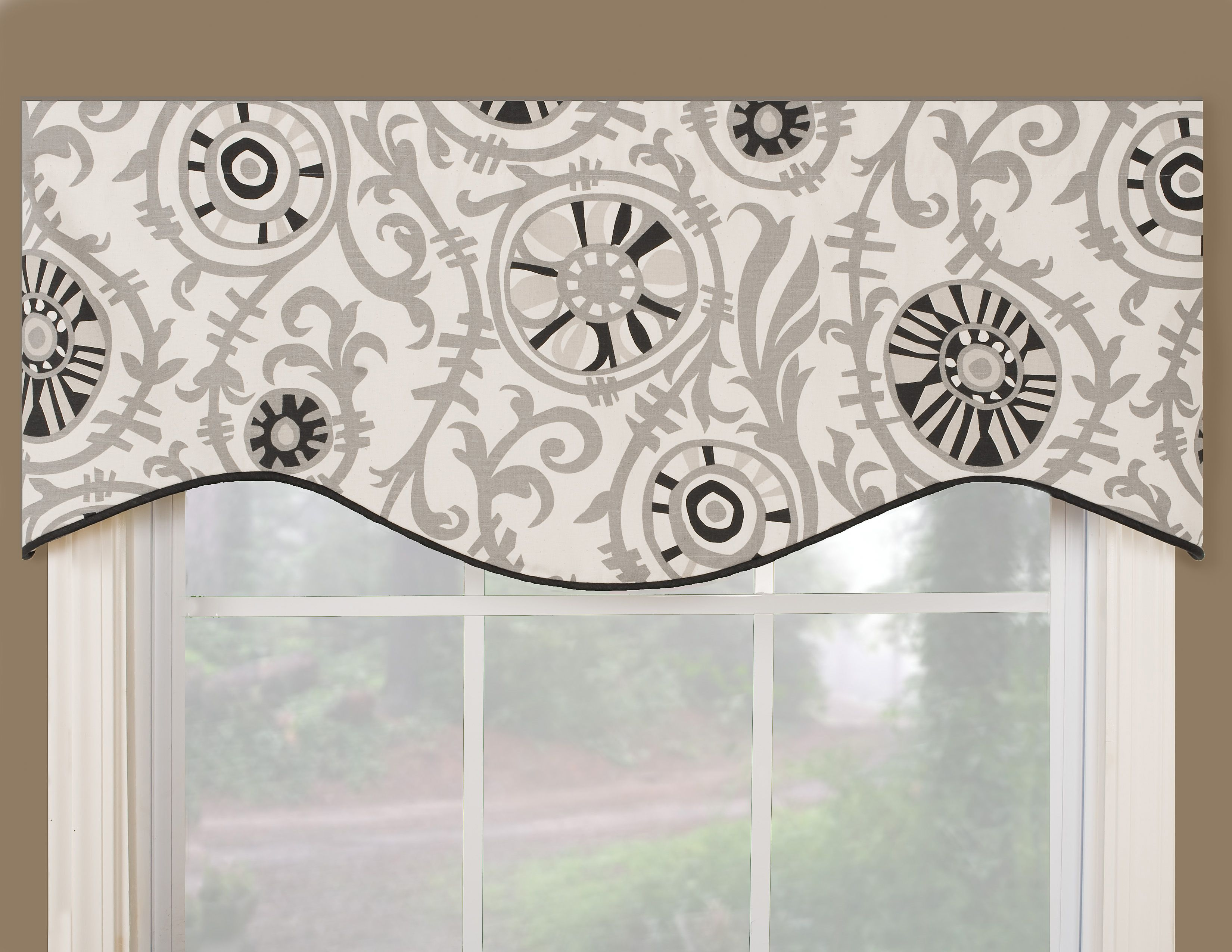 Vcny infinity sheer window scarf valance 54x216 for Designs of kitchen curtains