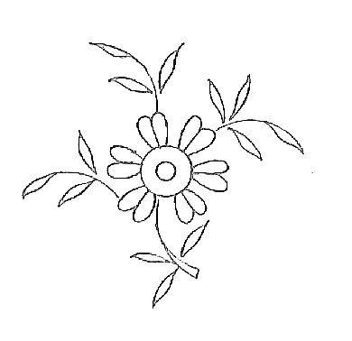 Motif broderie fleur 14 broderie rouge pinterest - Modele dessin fleur ...