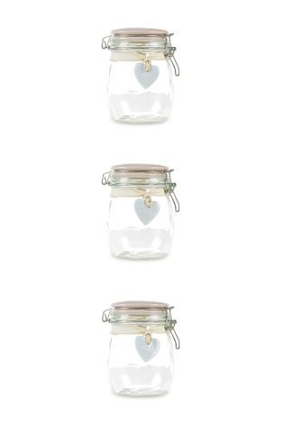 Clip Top Storage Jars With Ceramic Heart Tags Kitchen Jars