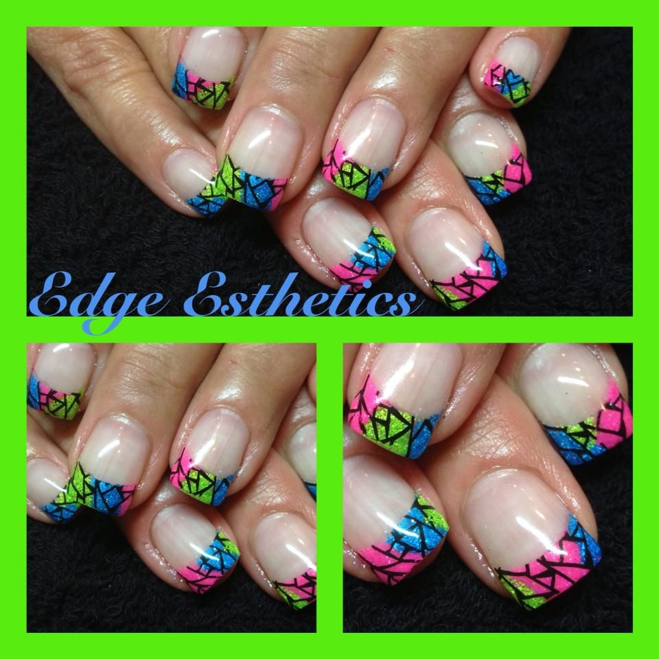 Stained Glass Nail Art: Nails, Glass Nails, Stained Glass