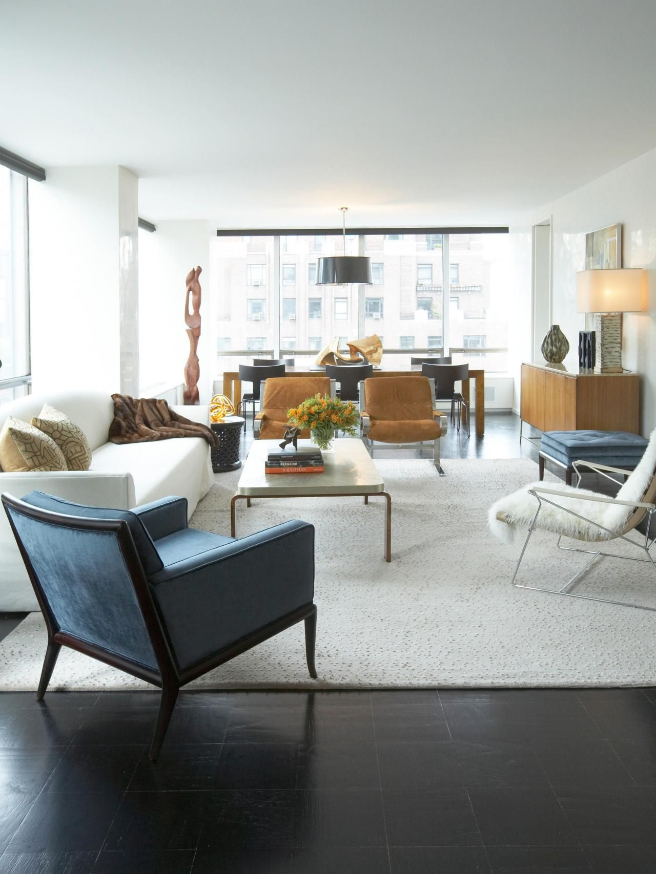 Area Rug Tips | Blue velvet chairs, Living rooms and Room