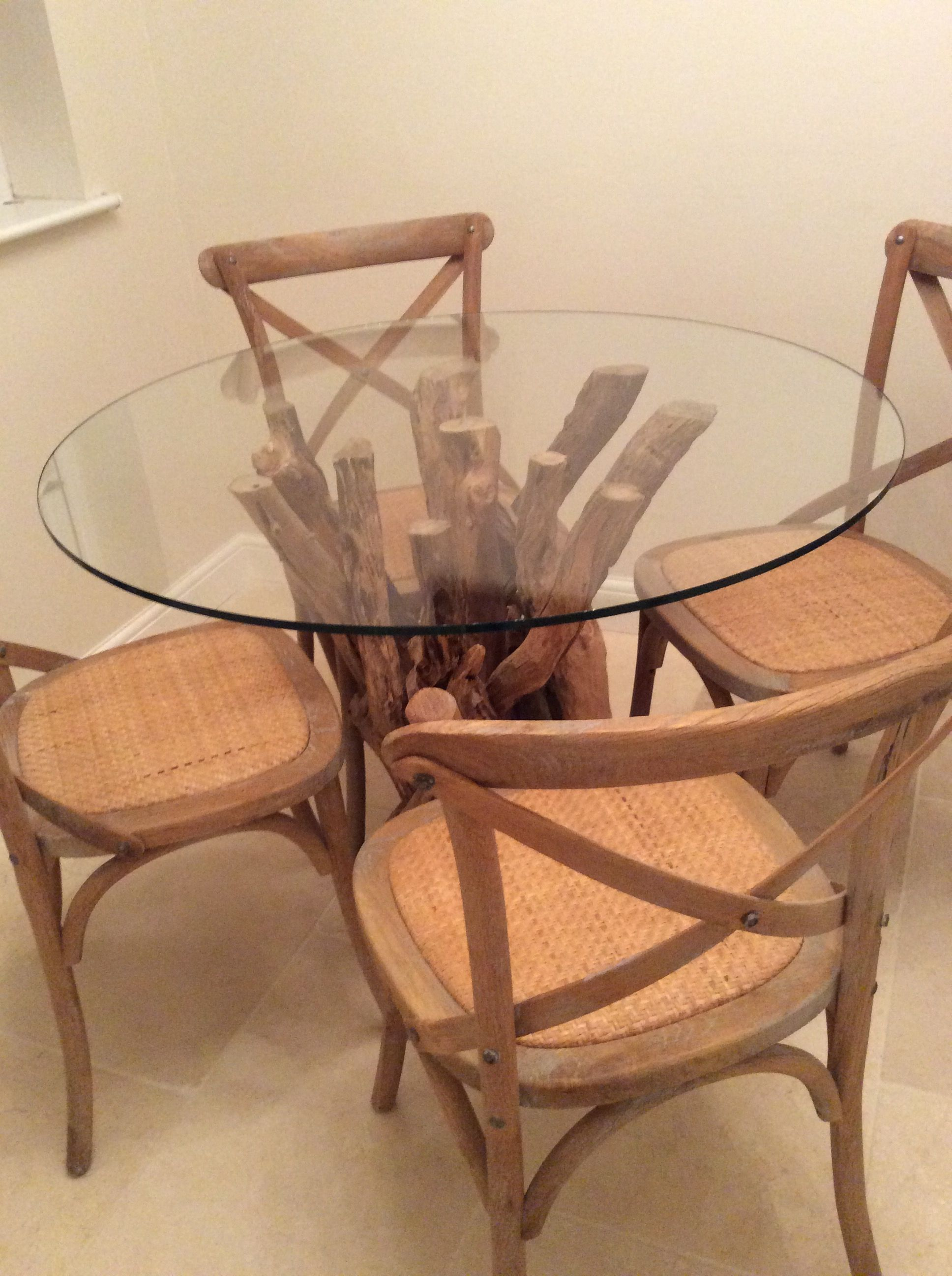 glass top round dining table. For Smaller Spaces - Our Small Natural Driftwood Round Dining Table With 1000mm Diameter Glass Top O