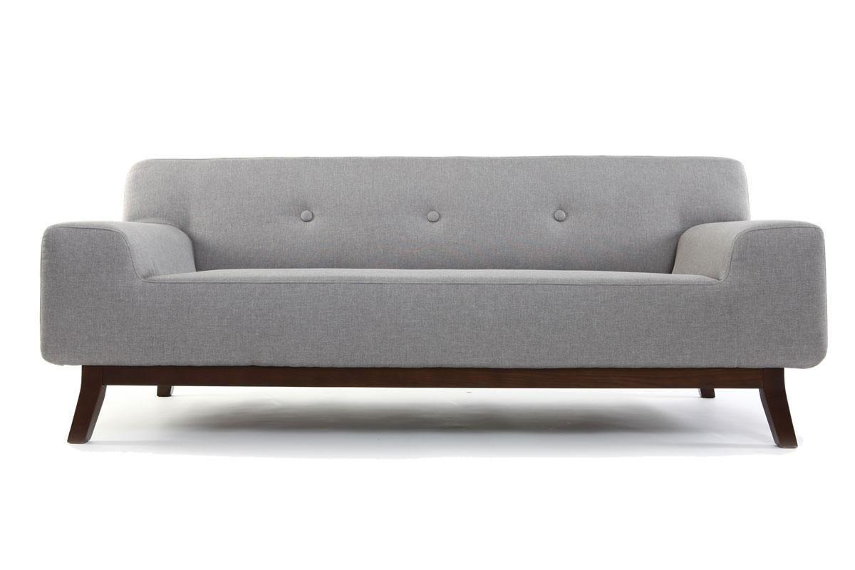 Canapé Design Personnes Gris VILA Miliboo Canap Pinterest - Canapé design gris