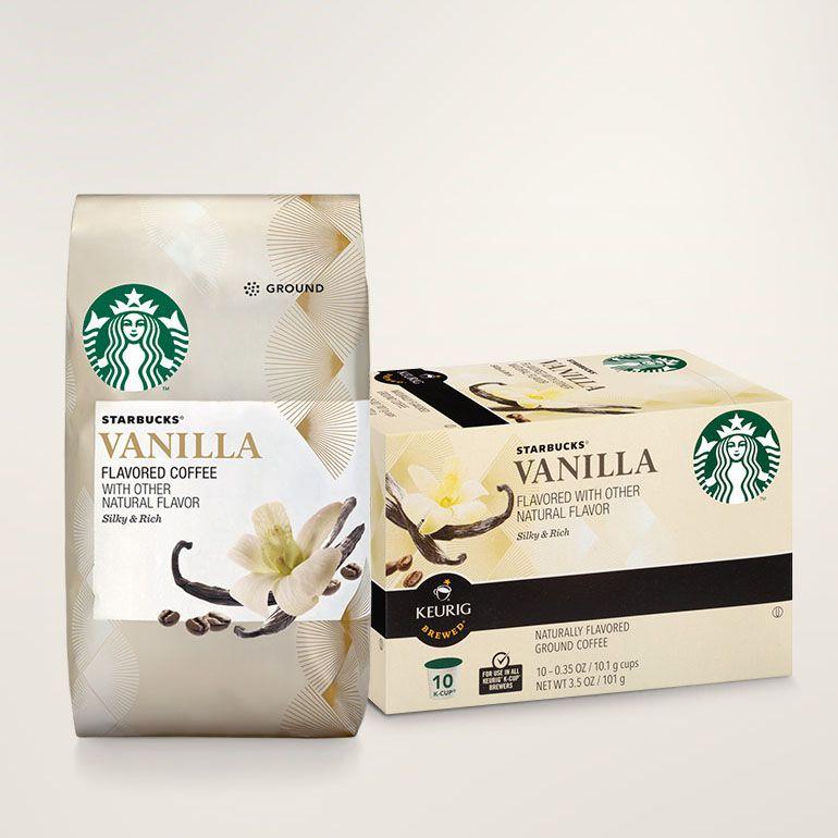 Starbucks Vanilla Flavored Coffee Bag With Starbucks Vanilla K Cup