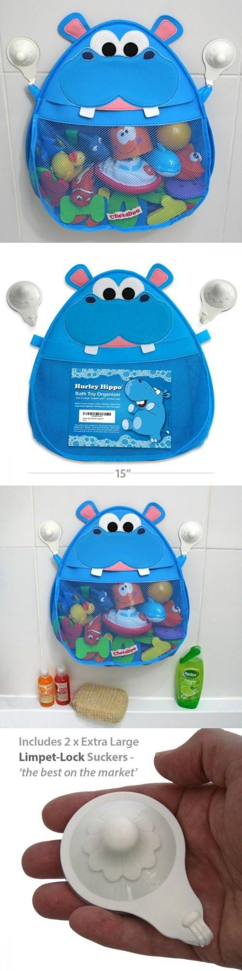 Bathing Accessories 100221: Hurley Hippo Bath Toy Organizer (Blue ...