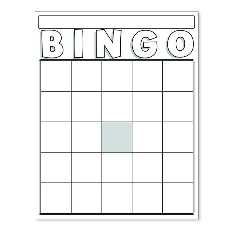 Blank Bingo Cards White  Number Recognition School Lessons And