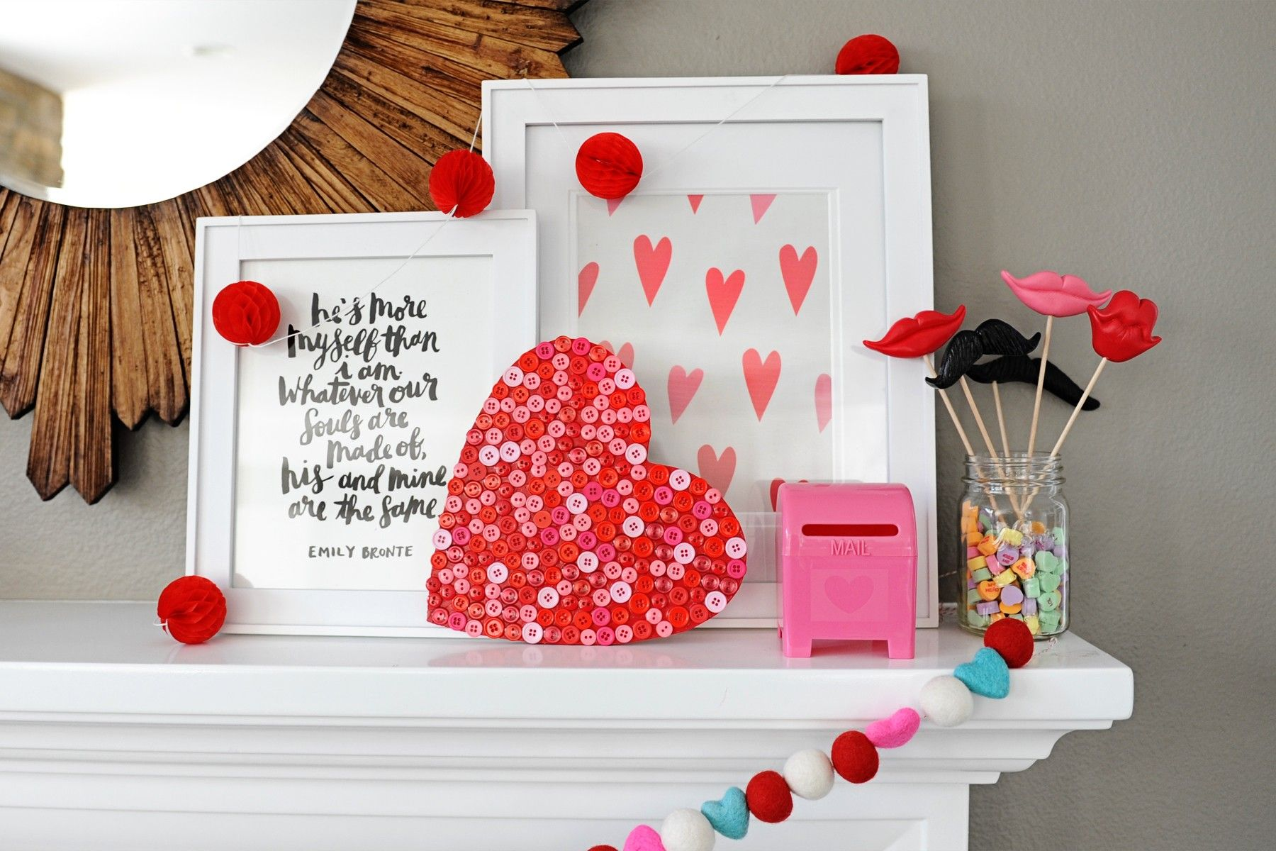 Make This Cute And Easy Diy Valentine Craft Wood Button
