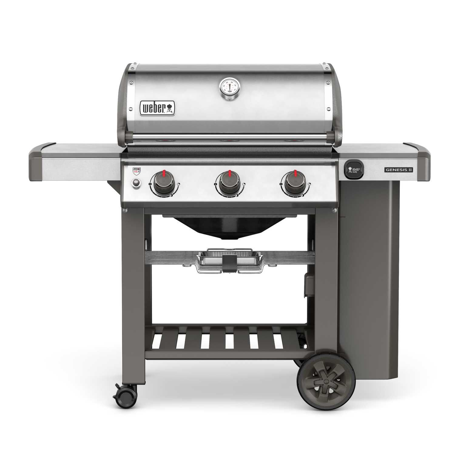 Weber Genesis Ii S 310 3 Burners Propane Grill Stainless Steel 37500 Btu Ace Hardware Natural Gas Grill Gas Grill Best Gas Grills