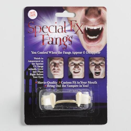 Can You Imagine Special FX Fangs Retractable Vampire Teeth Controllable New