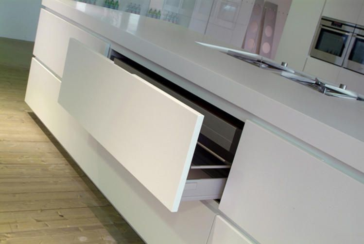 Corian® colour: Glacier White Application: Drawer fronts ...