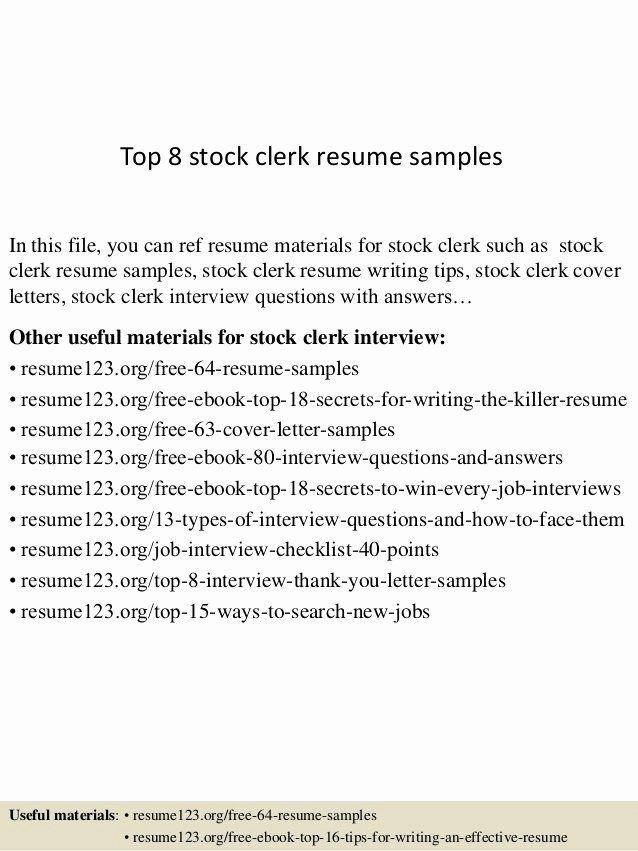 cashier/stocker job description for resume