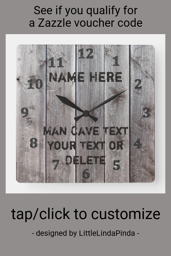 Personalized Rustic Man Cave Clocks for Him | Zazzle.com #mancavegarage Personalized Rustic Man Cave Clocks for Him #mancave #man #barn #rustic #mancavedecor #customhomedecor #mensgiftideas #christmasgiftideas #walldecor #zazzleaffiliate #mancavegarage