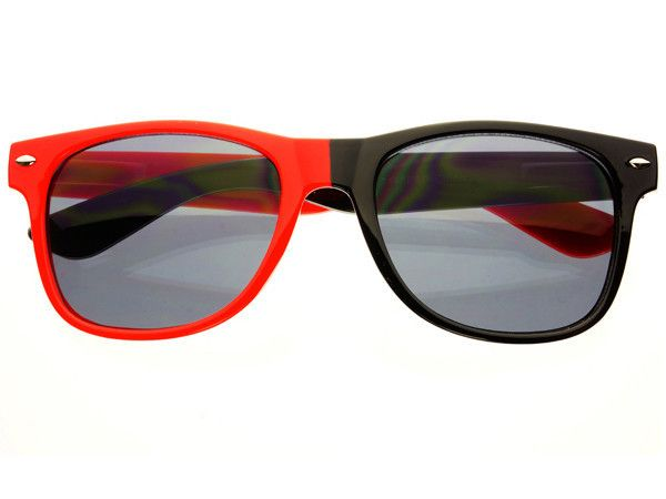 Retro Two Tone Wayfarer Sunglasses Red Black – FREYRS - Beautifully  designed, cheap sunglasses for men & women