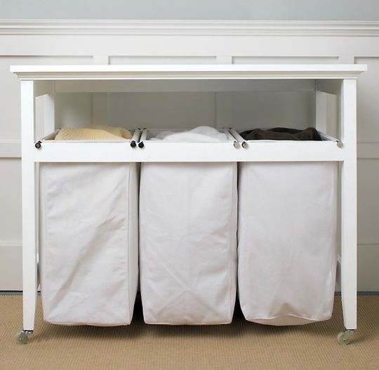 This Table And Laundry Sorter Is Exactly What I Want In My Laundry