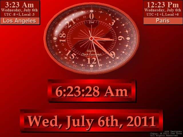 Calendar Wallpaper Program : Full screen digital clock software for pc desktop alarm