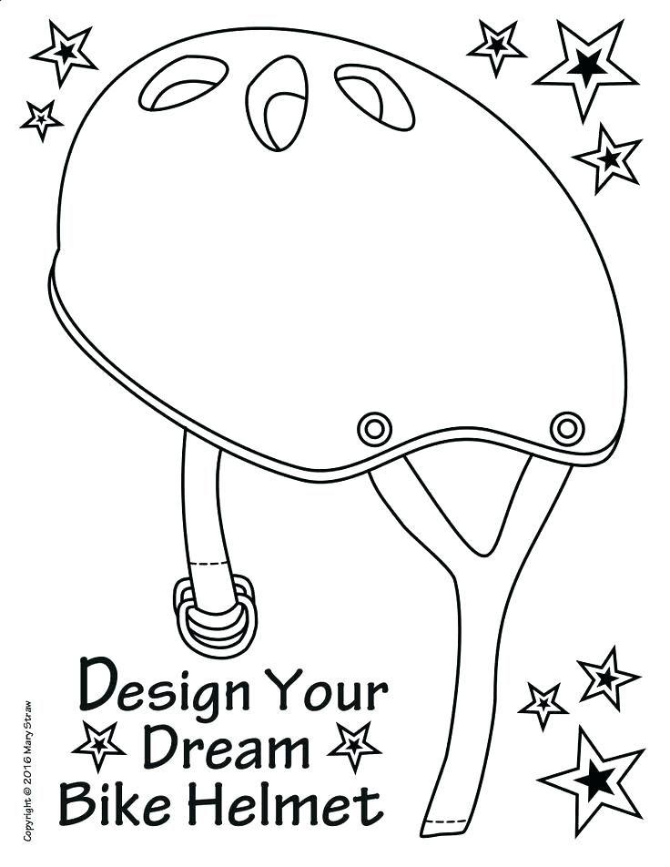 Bike Helmet Coloring Page | cars and bikes | Preschool art ...