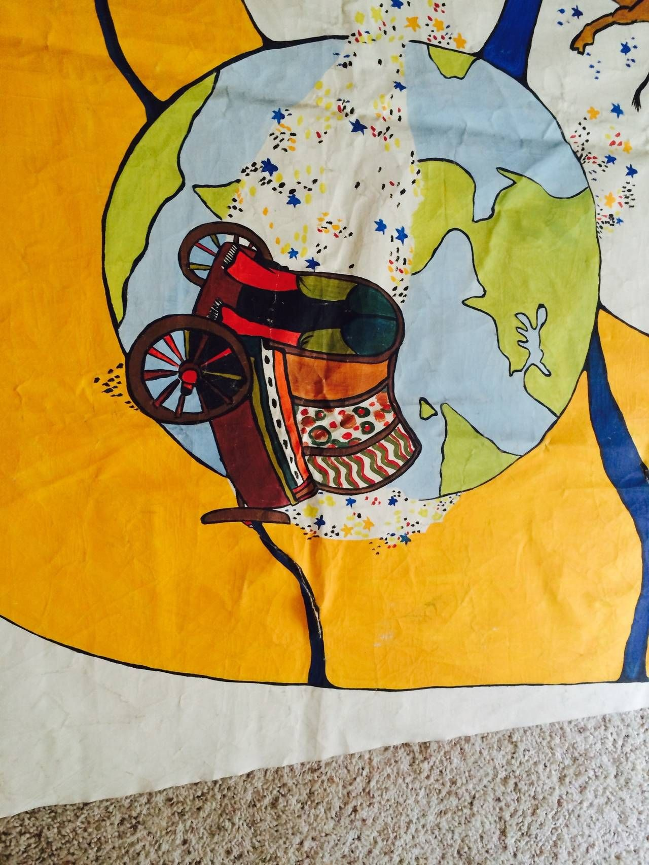 Carnival Banner, circa 1960 | Carnival, Banners and Canvases