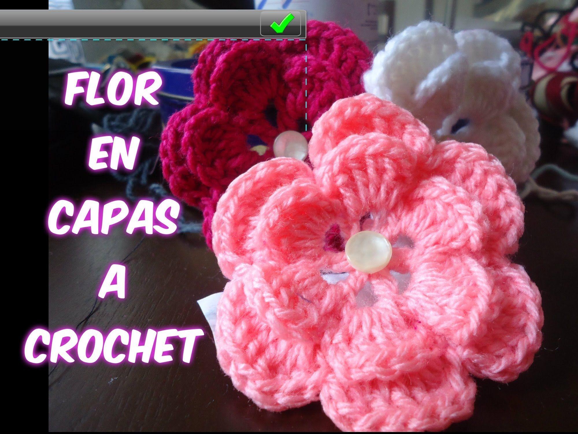 Tutorial Flor de dos Capas a Crochet o Ganchillo Crochet Flores