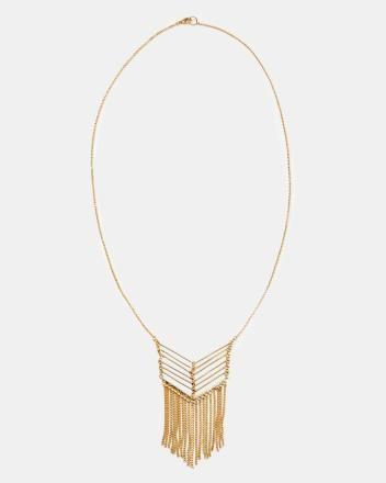 Chevron doré Smart Set Chevron fringe necklace #placemtltrust #smartset