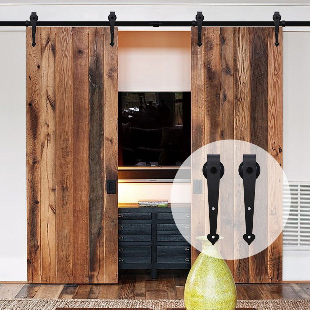glass door sliding with tv barn stand cool doors hardware on cabinet ikea