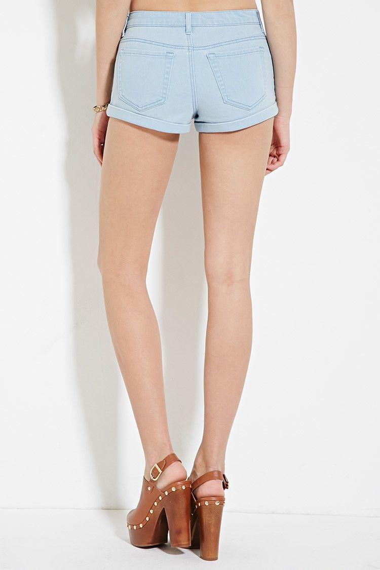 Super Low-Rise Denim Shorts | Forever 21 - 2000185850