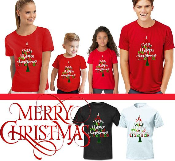 Noël famille T Shirts Noël t shirts t shirts famille arbre de