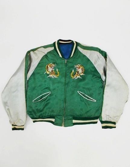 Vintage Sukajan japan souvenir war embroidered jacket eKGZvQjvWT