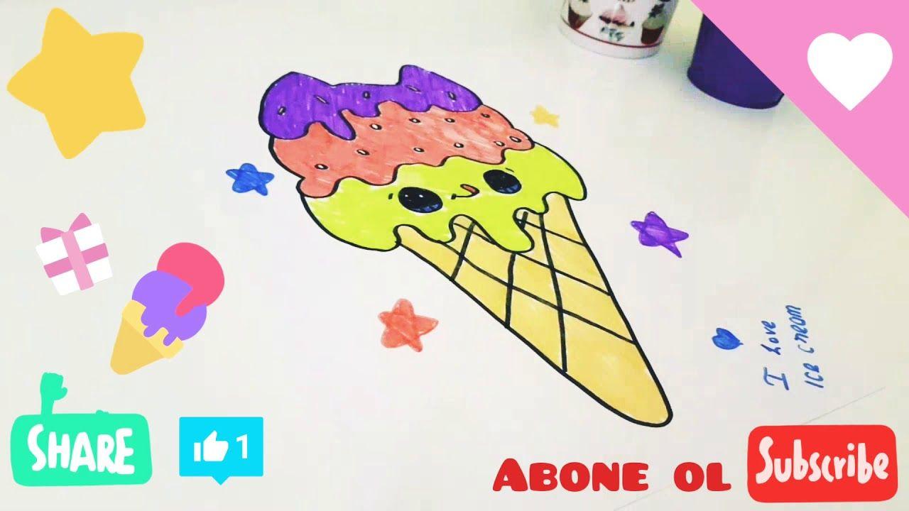 How To Draw Easy Cute Ice Cream Unicorn Kolay Unicornlu Dondurma A A Za Ma Youtube Easy Drawings Cool Drawings Cute Unicorn