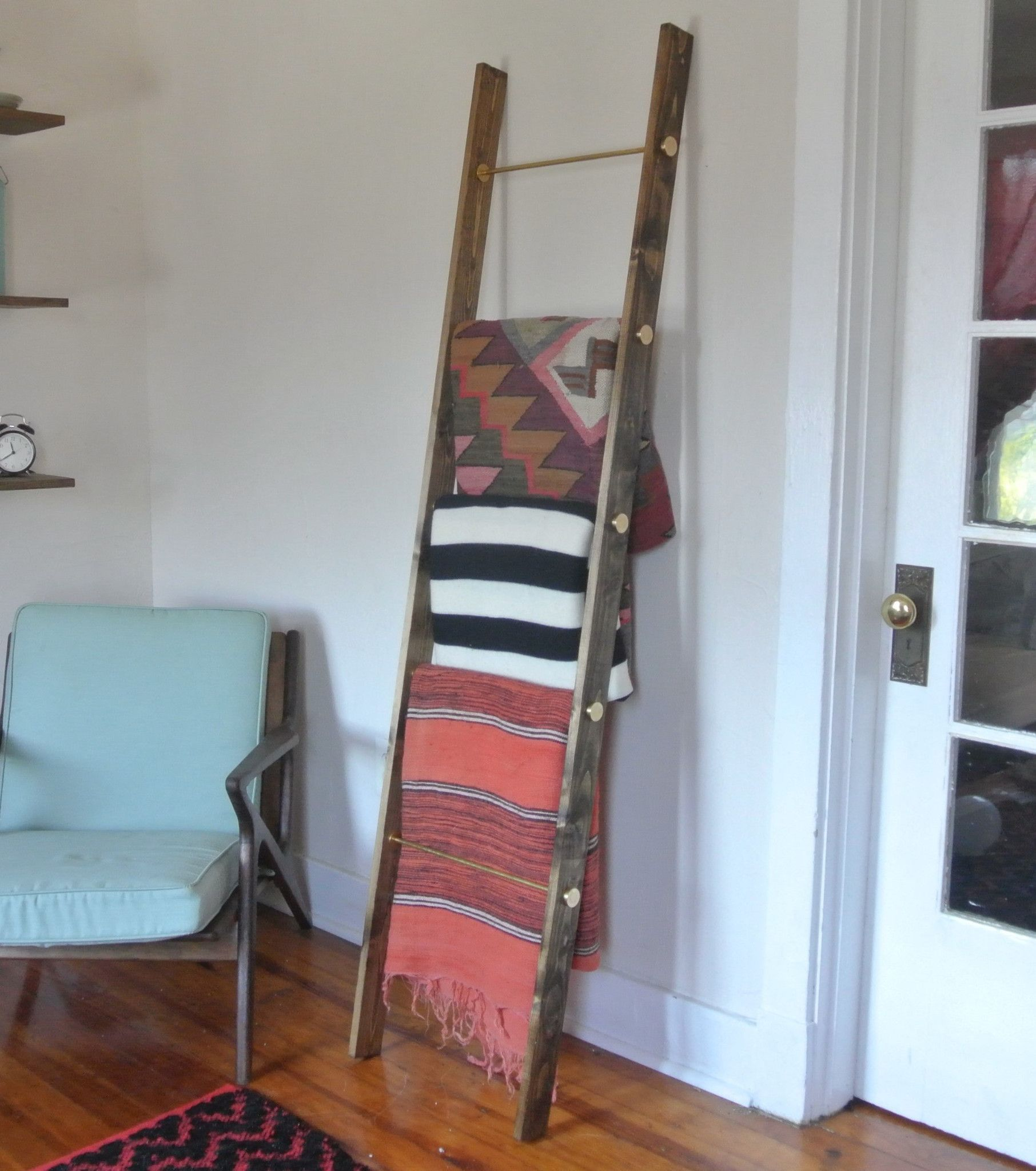 Handmade Brass Blanket Ladder