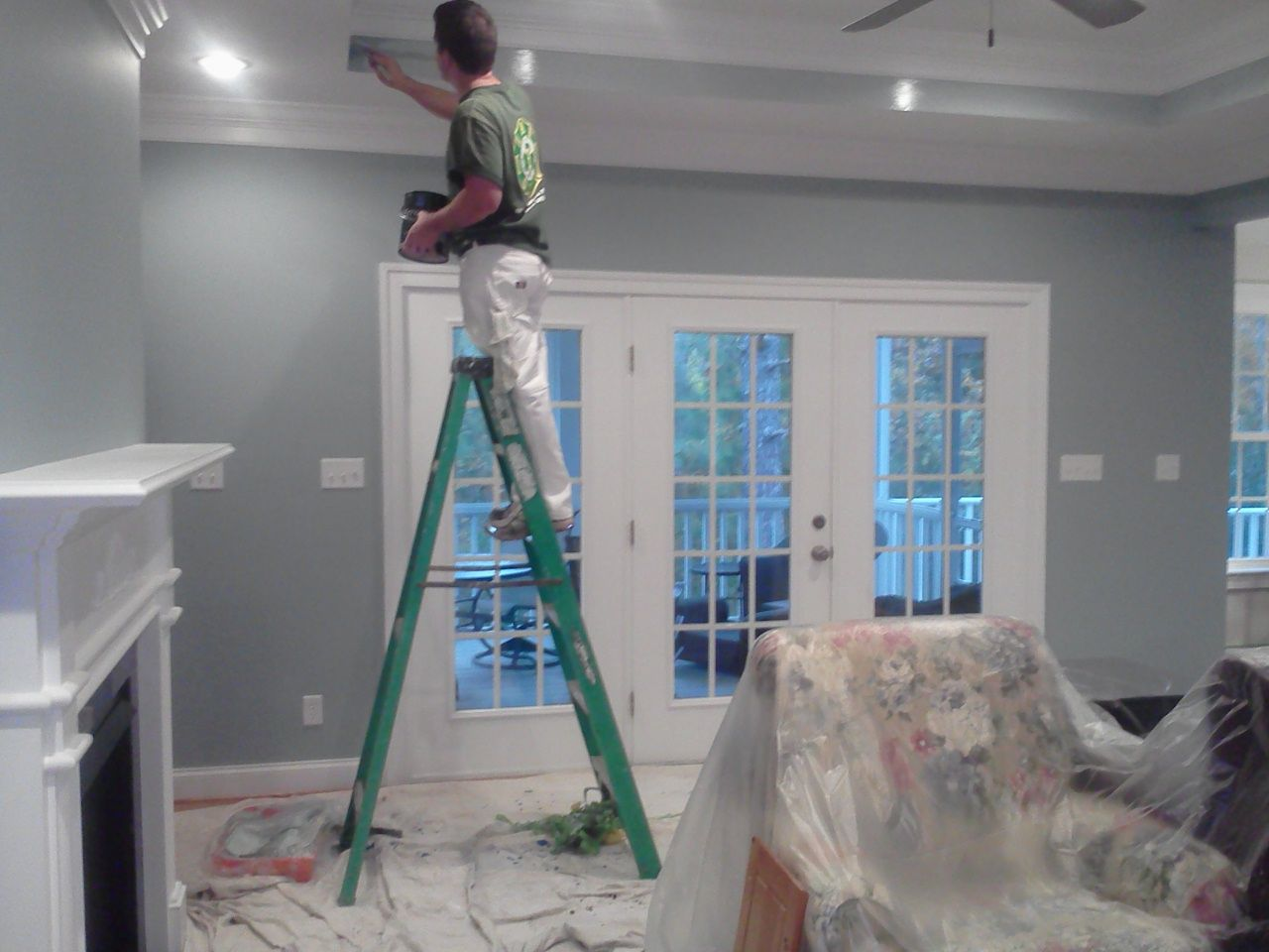 Seaside Interiors: French Country Living Room Update Languid Blue By Sherwin  Williams Part 40