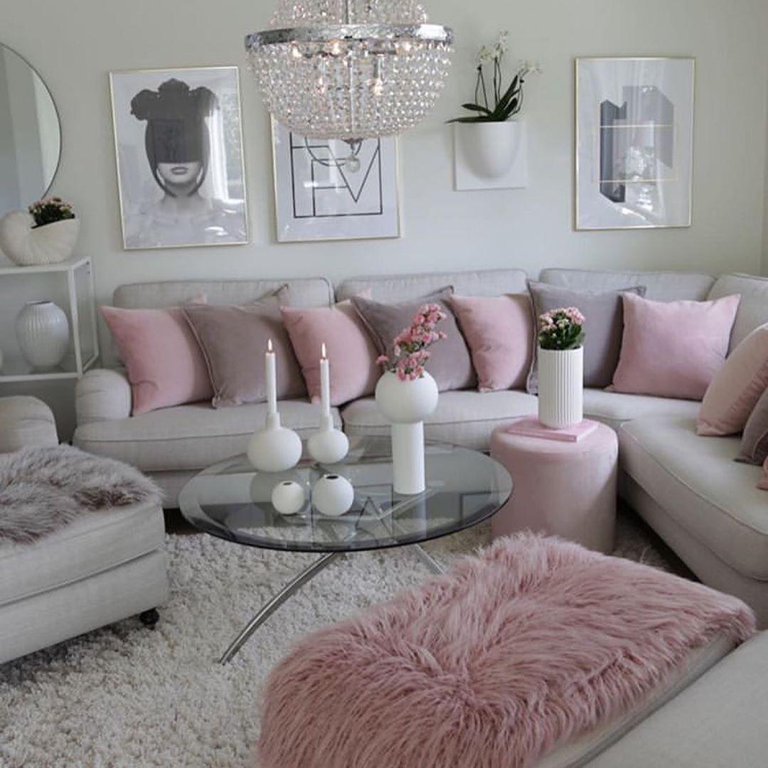 10+ Fabelhaft Wohnzimmer Rosa Grau  Living room designs, Home