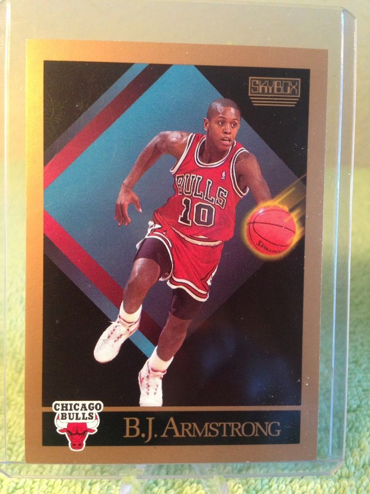 1990 91 Skybox 37 Bj Armstrong Chicago Bulls Bj Rc Rookie