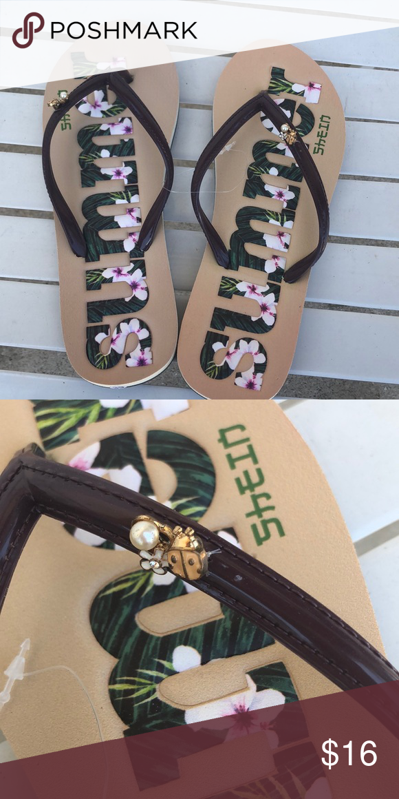 bff6a0d67e566 Summer flip flops brown and beige Cute summer flip flops. European ...