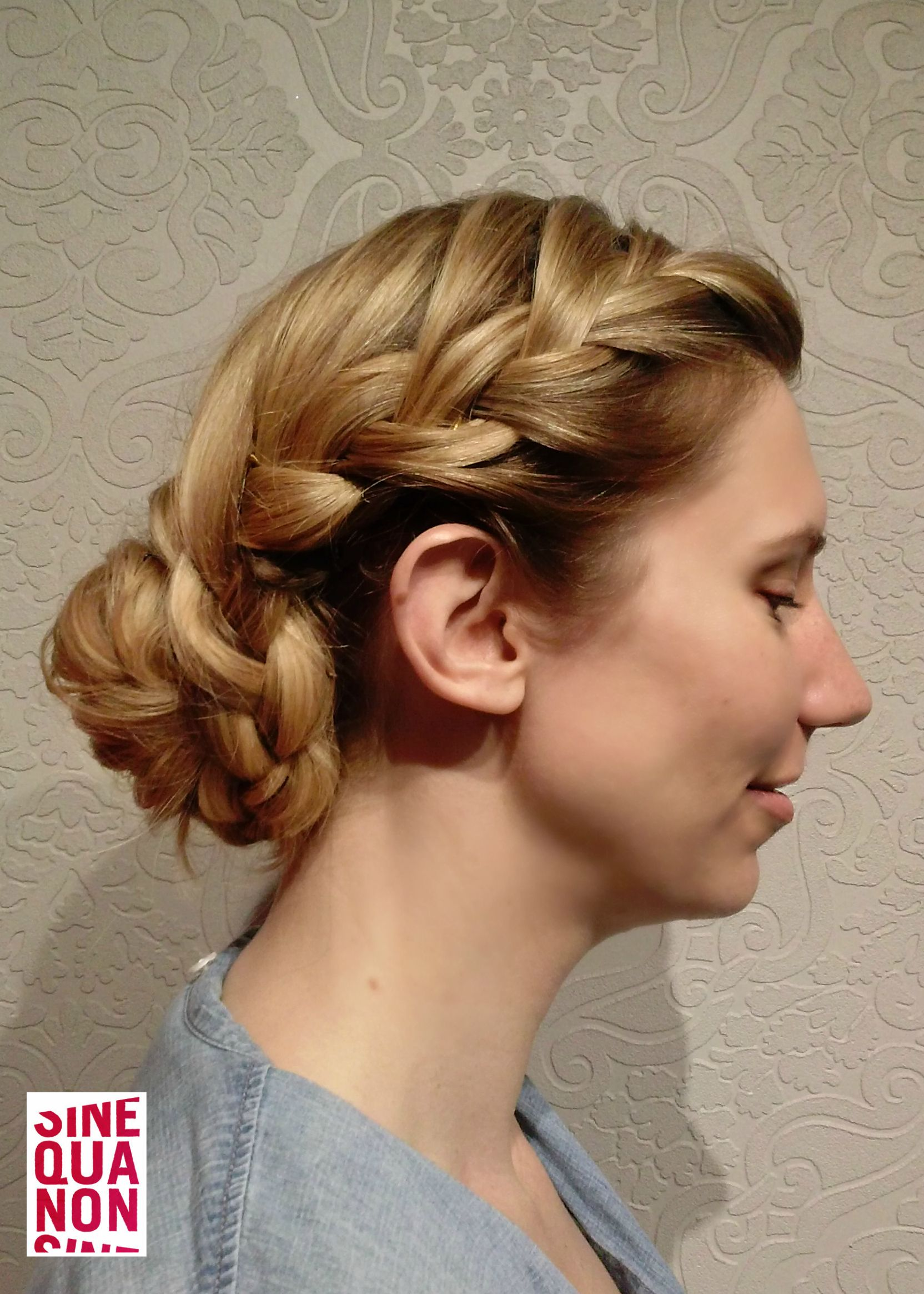 i styled this lovely bridesmaid's hair. hair by jill mock