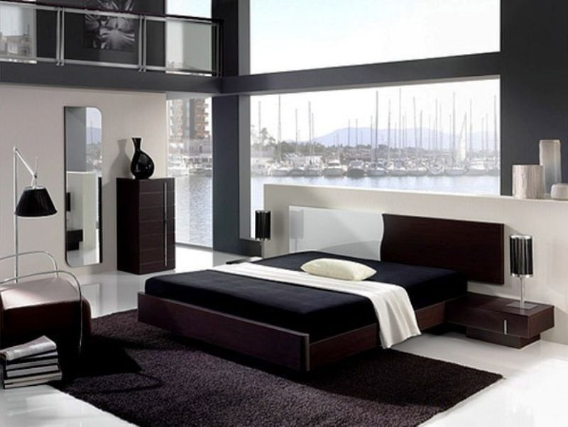 17 Timeless Black White Bedroom Designs That Everyone Will Adore Bedroom Interior Modern Bedroom Modern Bedroom Design Black and white modern bedroom