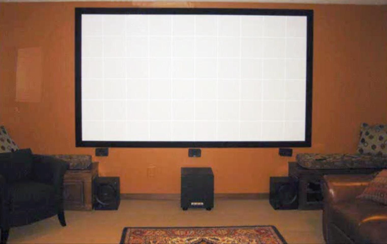 How To Build Your Own Projector Screen At Home For Less Than Fifty Bucks Projector Screen Diy Projector Wall Diy Projector