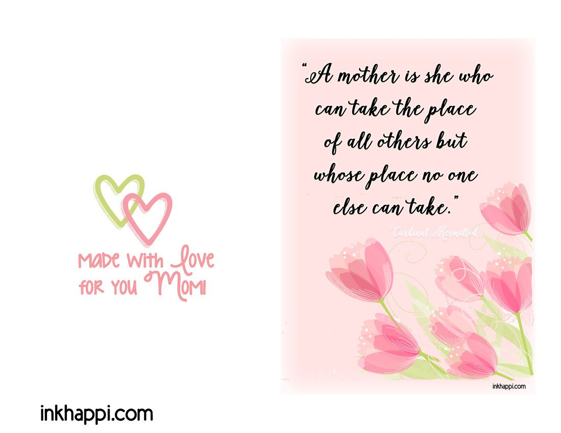 Mother I Love You Mothers Day Quotes Prints Quote Prints