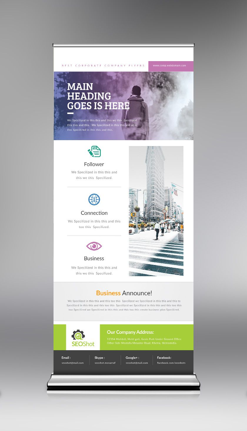 Psd Roll Up Design Template Graphic Templates Roll Up Design Standing Banner Design Pull Up Banner Design