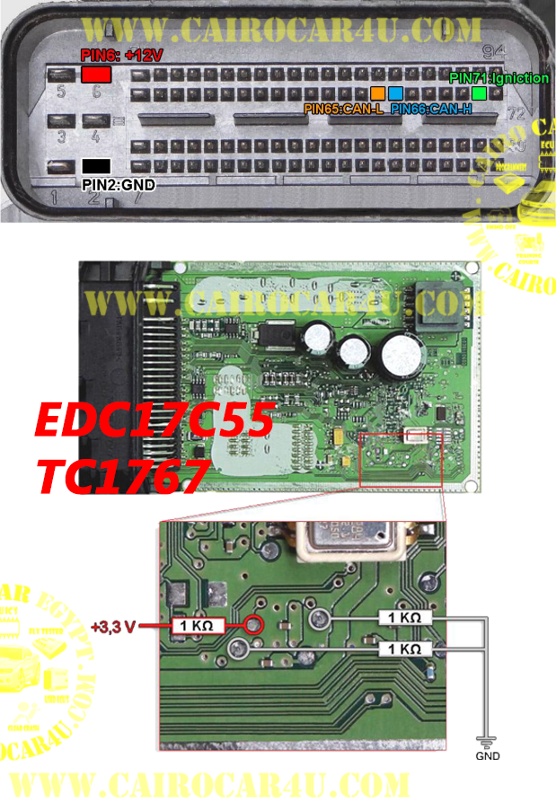 Edc17c55 Bsl Pinout In 2020 Car Ecu Ecu Electrical Wiring Diagram