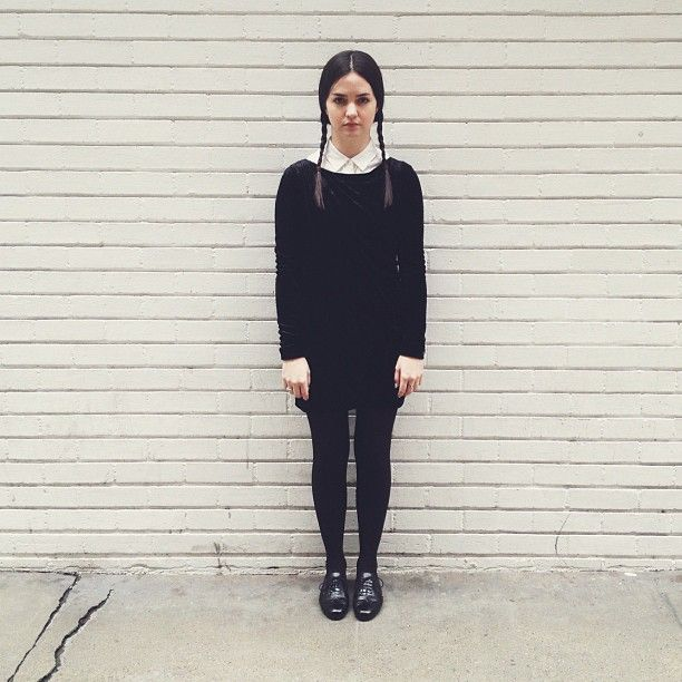 see how to recreate this wednesday addams costume with this tutorial