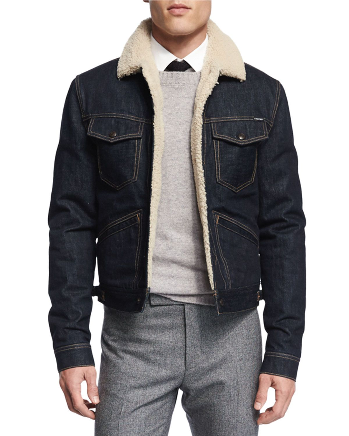 Denim Jacket With Shearling Lining Lined Denim Jacket Fur Lined Denim Jacket Denim Jacket [ 1500 x 1200 Pixel ]