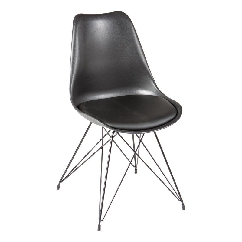 Sylvester Black And Metal Dining Chair JYSK