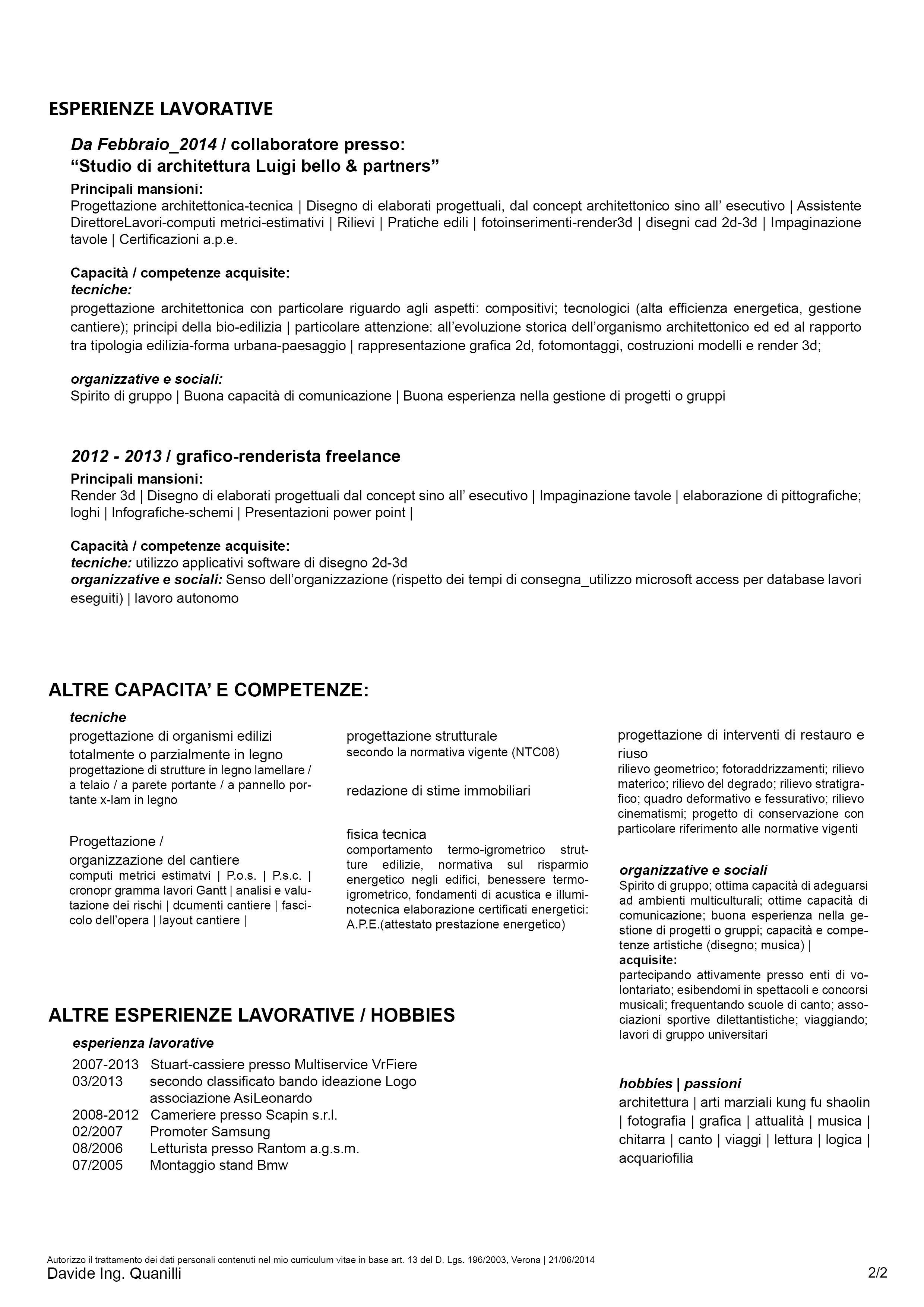 Curriculum Vitae Davide Ing Quanilli Pag2 Mail Davide Ingarch
