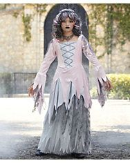 zombie princess girls costume